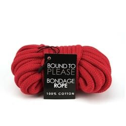 Cotton Bondage Rope Red 10m