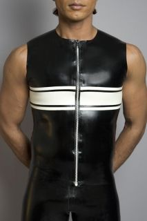 Mens Strip Rubber T-Shirt