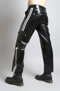 Mens Rubber Cargo Pants