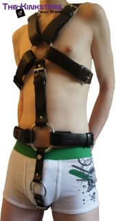 The Kinksters Leather Body Harness