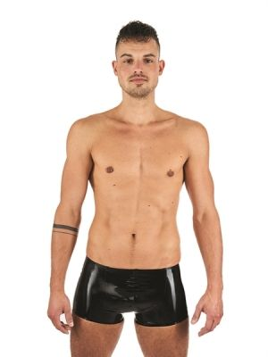 Mister B Rubber Trunks Black Yellow