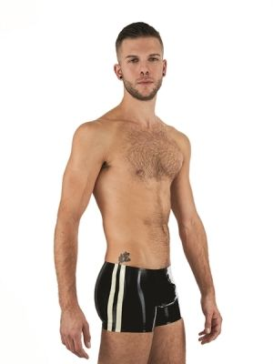 Mister B Rubber Trunks Black Red