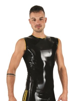 Mister B Rubber Sleeveless T-Shirt Black Blue