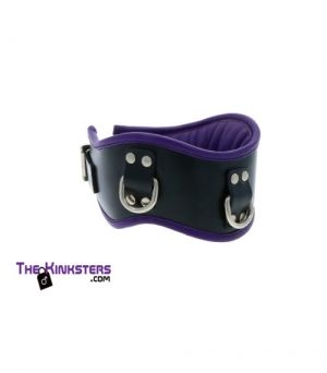 Wide Leather Bondage Collar