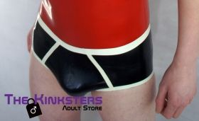 Rubber Briefs Black & White Medium
