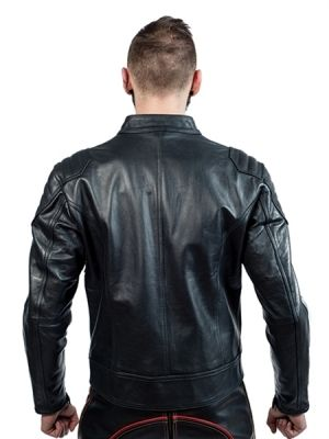 Mister B Leather Biker Jacket With Belt