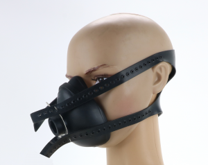 Anaesthetic Mask with Black Heavy Duty Harness (Push Fit)
