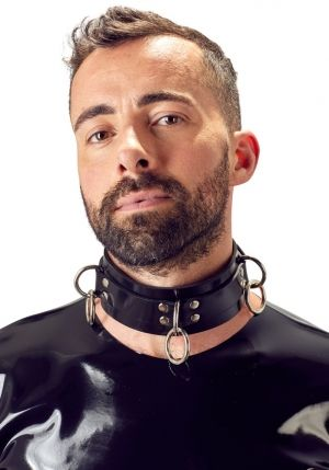 Rubber Bondage Collar