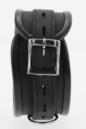 Black Leather Padded Restraint Set (4 or 7 Piece Set)