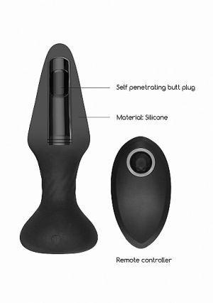 SONO No81 Rechargeable Remote Controlled Self Thrusting Butt Plug