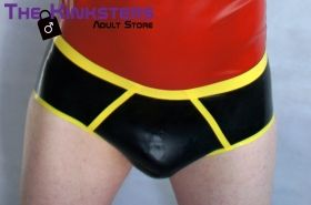Rubber Briefs Black & Yellow